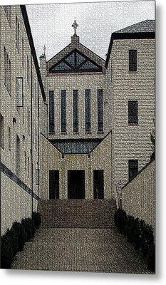 Abbey Of Gethsemani-entrance II Metal Print by Thia Stover