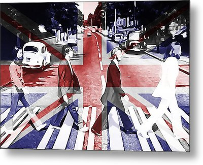 Abbey Road Union Jack Metal Print by Dan Sproul