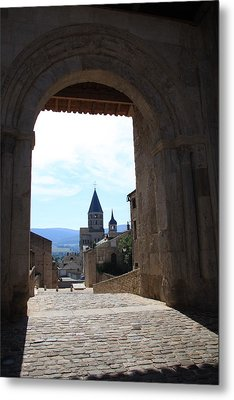 Abbey Through Doorway - Cluny Metal Print by Christiane Schulze Art And Photography
