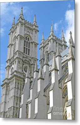 Metal Print featuring the photograph Abbey Towers by Ann Horn