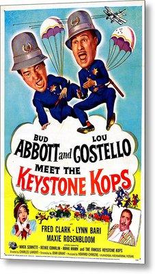 Abbott And Costello Meet The Keystone Metal Print by Everett