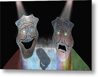 Abbott And Costello Metal Print by Steven  Michael