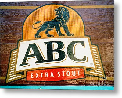 Metal Print featuring the photograph Abc Stout by Ethna Gillespie
