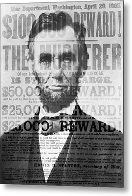 Abe Lincoln Assassination Outrage Metal Print by Daniel Hagerman