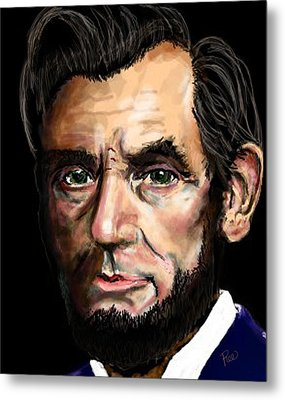Abe Lincoln Metal Print by Maria Schaefers