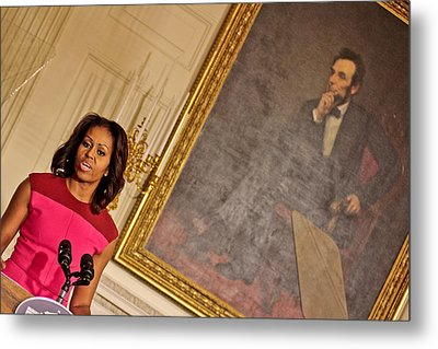 Abe...and The First Lady Metal Print by Douglas Adams