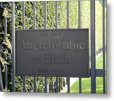 Abercrombie And Fitch Store In Paris France Metal Print by Richard Rosenshein