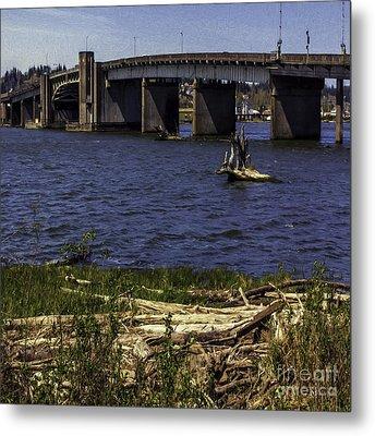 Aberdeen Bascule Bridge Metal Print by Jean OKeeffe Macro Abundance Art