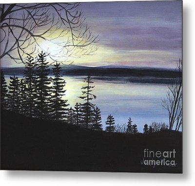 Metal Print featuring the painting Aberdeen Sunrise by Jesslyn Fraser