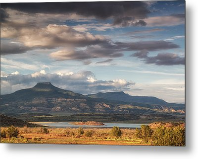 Abiquiu New Mexico Pico Pedernal In The Morning Metal Print by Silvio Ligutti