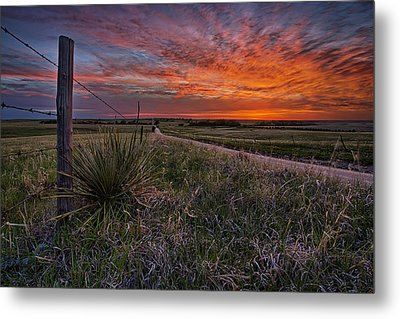 Ablaze Metal Print by Thomas Zimmerman