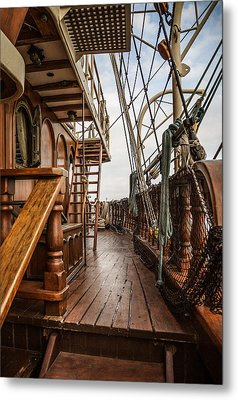 Aboard The Tall Ship Peacemaker Metal Print