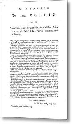 Abolition, 1789 Metal Print by Granger