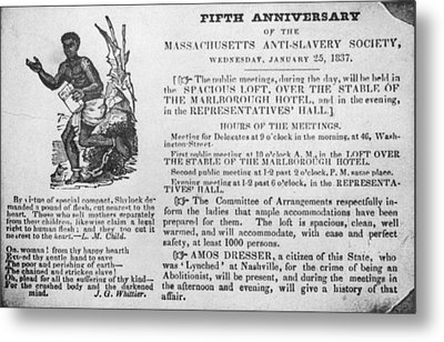 Abolition Meeting, 1837 Metal Print