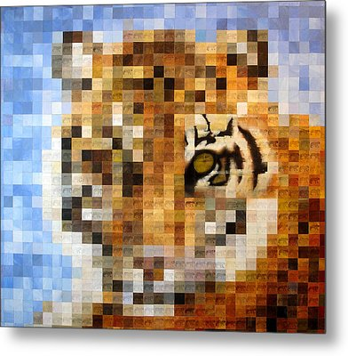 About 400 Sumatran Tigers Acrylic On Paper Metal Print by Charlie Baird