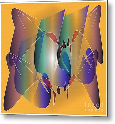 Metal Print featuring the digital art About Time by Iris Gelbart