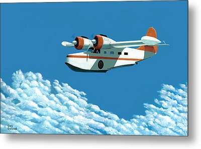 Above It All  The Grumman Goose Metal Print