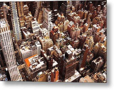 Above New York City Metal Print by Vivienne Gucwa