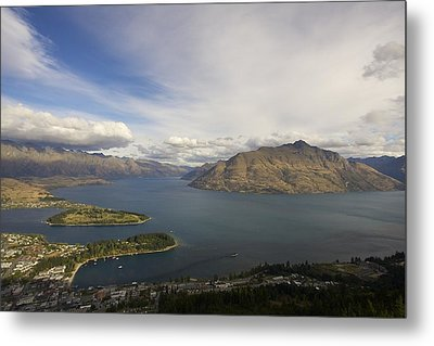 Metal Print featuring the photograph Above Queenstown #2 by Stuart Litoff