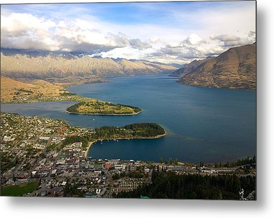 Metal Print featuring the photograph Above Queenstown by Stuart Litoff