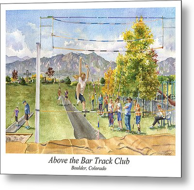 Above The Bar Track Club Poster Metal Print