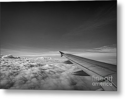 Above The Clouds Bw Metal Print