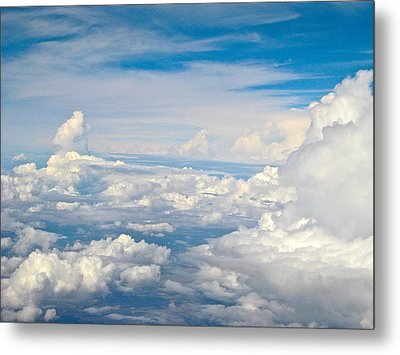 Above The Clouds Over Texas Image B Metal Print by Byron Varvarigos