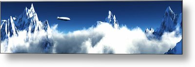 Metal Print featuring the digital art Above The Clouds... by Tim Fillingim