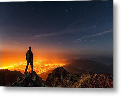 Above The Night Metal Print by Evgeni Dinev