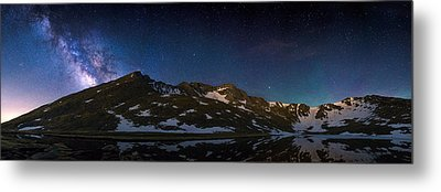 Above The Rocky Mountain High Metal Print by Adam Pender