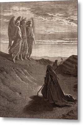 Abraham And The Three Angels Metal Print by Litz Collection