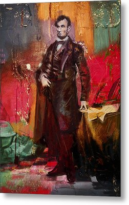 Abraham Lincoln 05 Metal Print by Corporate Art Task Force