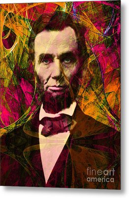 Abraham Lincoln 2014020502 Metal Print by Wingsdomain Art and Photography