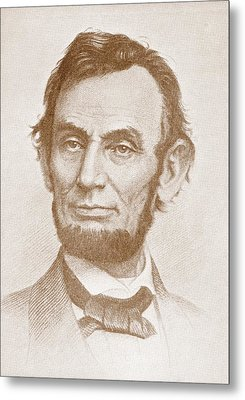 Abraham Lincoln Metal Print by American School