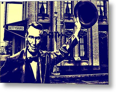 Abraham Lincoln At Gettysburg Metal Print by Bill Cannon