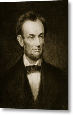 Abraham Lincoln Metal Print by Francis Bicknell Carpenter