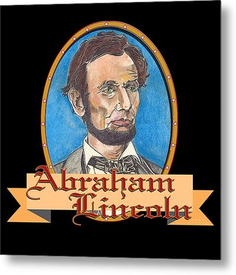 Abraham Lincoln Graphic Metal Print by John Keaton