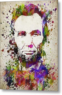 Abraham Lincoln In Color Metal Print