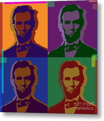 Abraham Lincoln Metal Print by Jean luc Comperat
