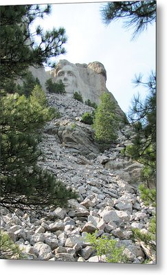 Abraham Lincoln - Mt. Rushmore Metal Print by Karen Gross