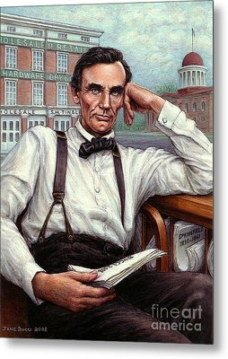 Abraham Lincoln Of Springfield Bicentennial Portrait Metal Print by Jane Bucci