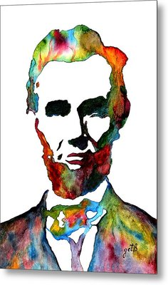 Abraham Lincoln Original Watercolor  Metal Print
