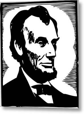 Abraham Lincoln Portrait Metal Print by Florian Rodarte