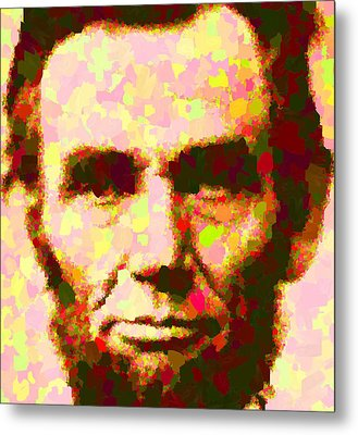 Abraham Lincoln Portrait Metal Print