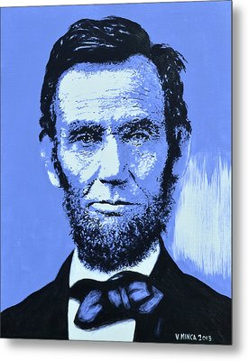 Abraham Lincoln Metal Print by Victor Minca