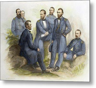 Abraham Lincoln(1809-1865) Metal Print by Granger