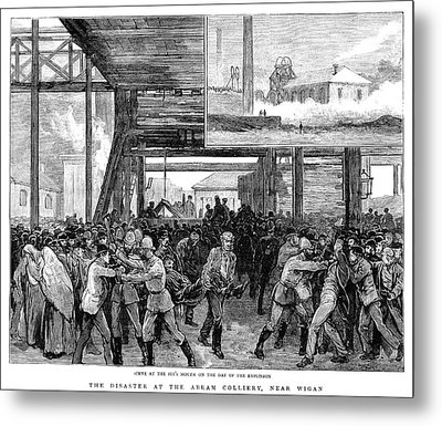 Abram Colliery Disaster Metal Print by Granger