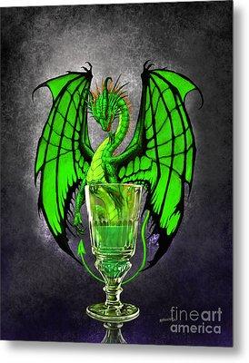 Absinthe Dragon Metal Print by Stanley Morrison