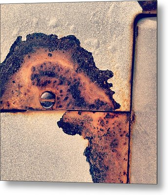 Absract Rust Metal Print by Christy Beckwith