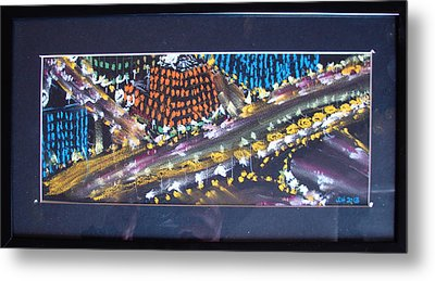 Metal Print featuring the drawing Absrtract Traffic by Joseph Hawkins